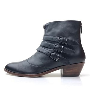 Modern Vice Leather Jasper Buckle Ankle Booties 9
